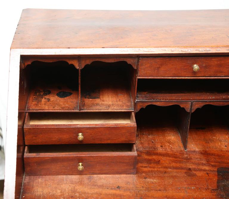 19th Century Georgian Mahogany Writing Desk At 1stdibs