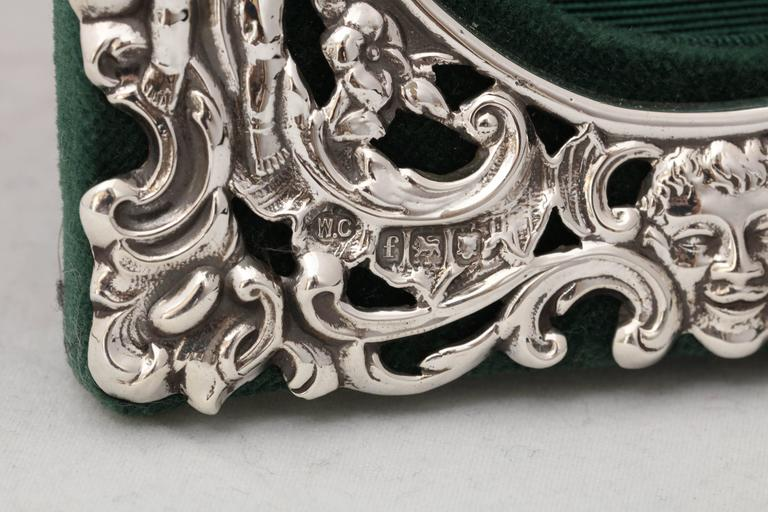 Victorian Sterling Silver William Comyns Picture Frame For Sale 1