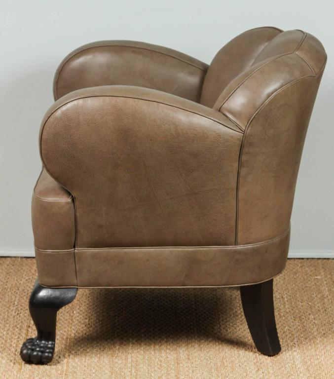 Antique Bear Claw Chair Leather, Circa 1910 For Sale 3