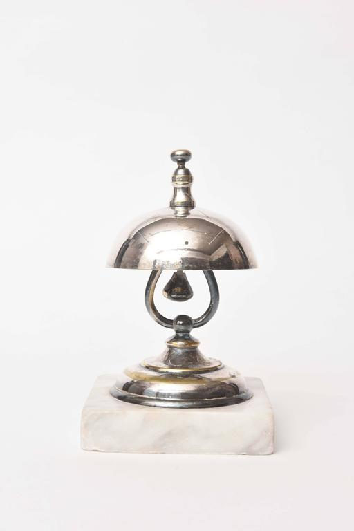 Vintage Dinner Or Service Bell Marble Base At 1stdibs