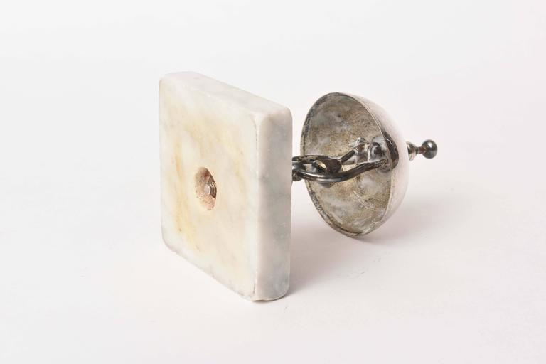 Vintage Dinner Or Service Bell Marble Base At 1stdibs
