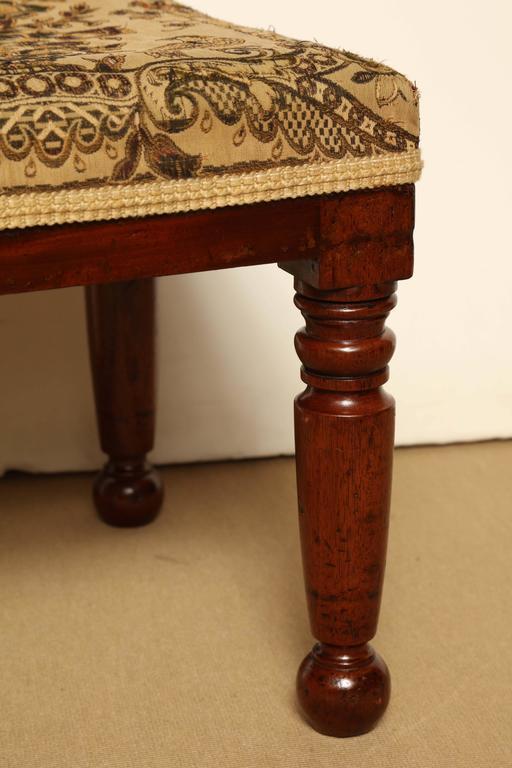 Mid-19th century English, mahogany stool.