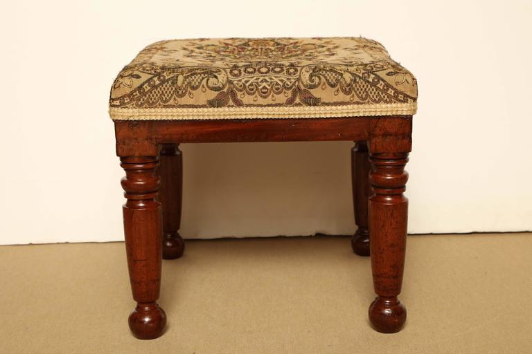 Mid-19th Century English, Mahogany Stool For Sale 1