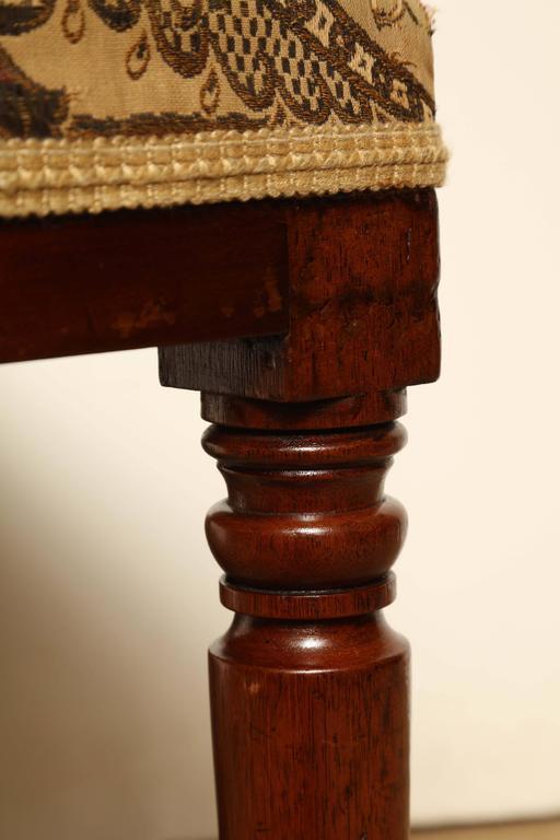 Mid-19th Century English, Mahogany Stool For Sale 5