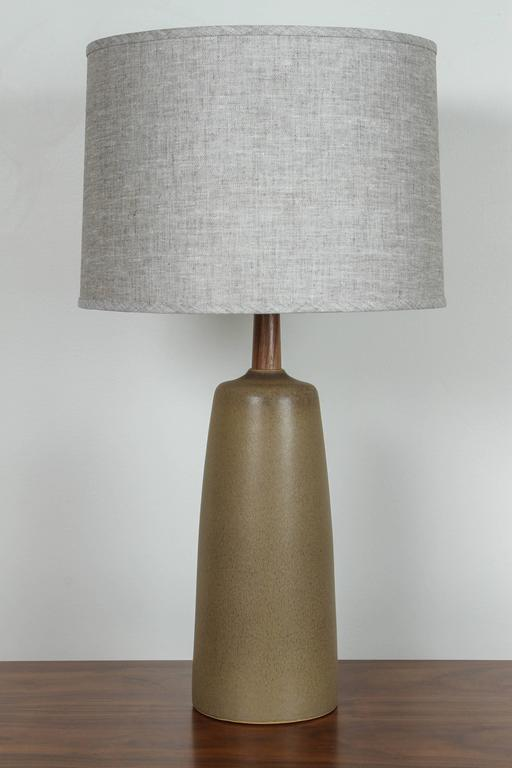 Ceramic Pair of Tor Lamps by Stone and Sawyer for Lawson-Fenning For Sale