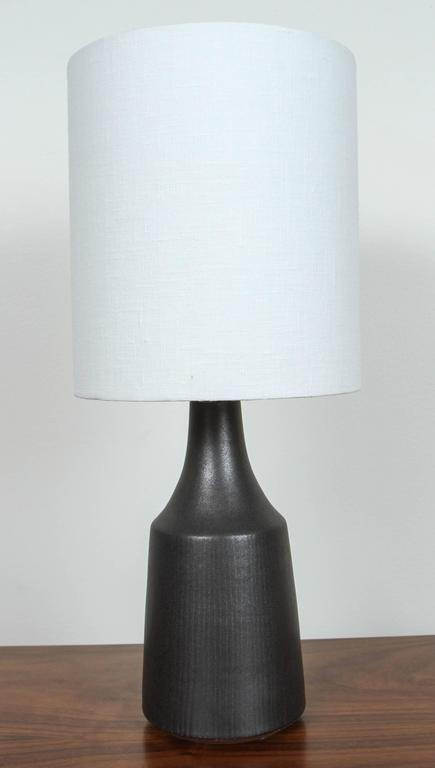 """American Pair of Black """"Classic"""" Lamps by Victoria Morris For Sale"""