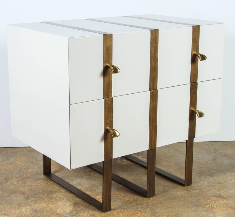 Paul Marra Two-Drawer Banded Chest 4