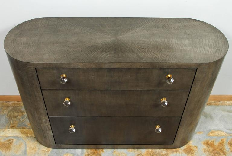 Italian Inspired 1970s Style Rounded Chest of Drawers For Sale 2
