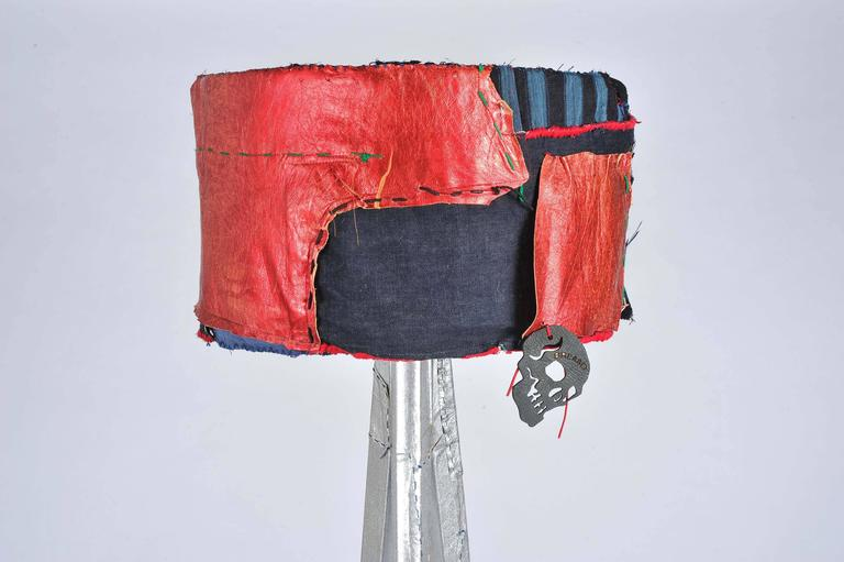 Unique handmade bohemian rock and roll style vintage denim floor lamp for sale at 1stdibs - Unique handmade lamps ...