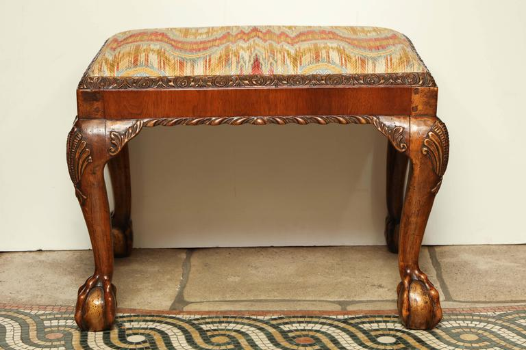 Magnificent Pair Of George Ii Ball And Claw Foot Stool At 1Stdibs Gamerscity Chair Design For Home Gamerscityorg