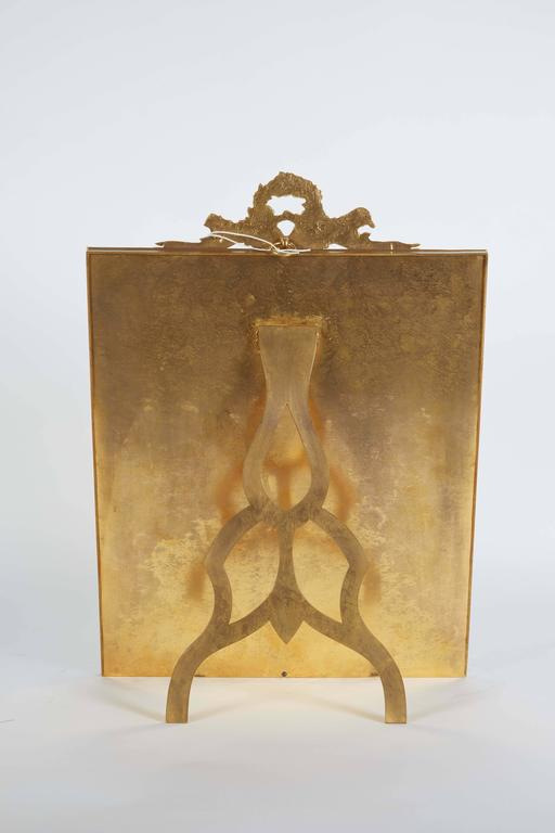Large French Gilt Bronze Ormolu and Red Guilloche Enamel Picture Photo Frame For Sale 2