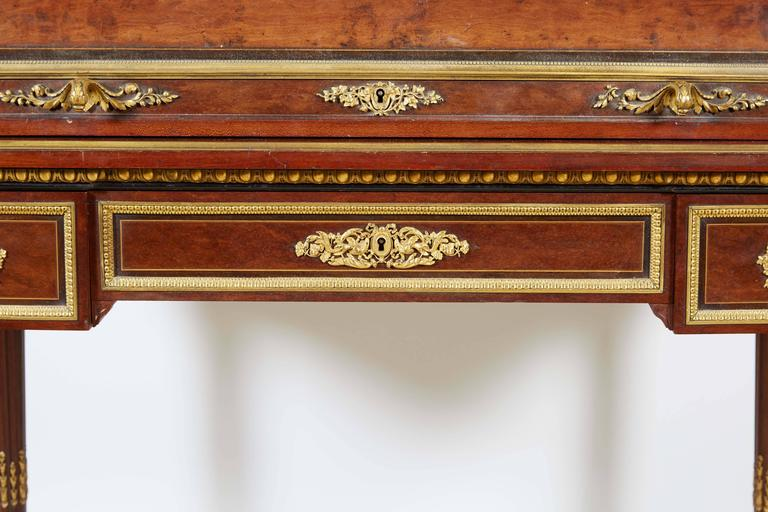 French Ormolu-Mounted Bureau a Cylindre Roll Top Desk Signed H. Fourdinois For Sale 3