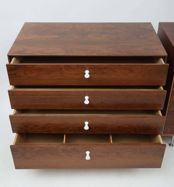 George Nelson Rosewood Thin Edge Dressers In Good Condition For Sale In West Palm Beach, FL