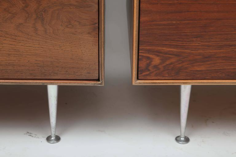 Aluminum George Nelson Rosewood Thin Edge Dressers For Sale