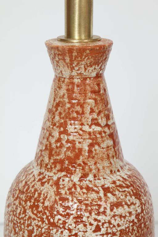 Design Technics Burnt Orange and White Ceramic Table Lamps 3