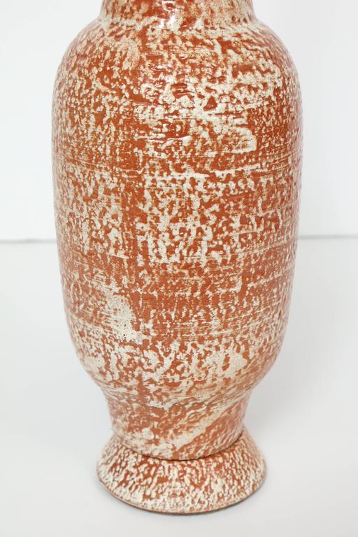 Design Technics Burnt Orange and White Ceramic Table Lamps 4