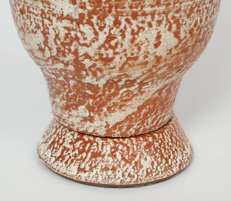 Design Technics Burnt Orange and White Ceramic Table Lamps 5
