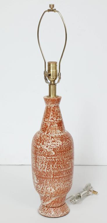 Design Technics Burnt Orange and White Ceramic Table Lamps 6
