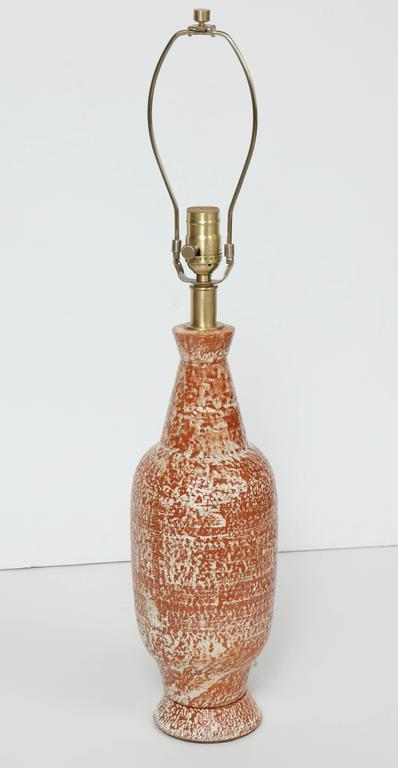 Design Technics Burnt Orange and White Ceramic Table Lamps 7
