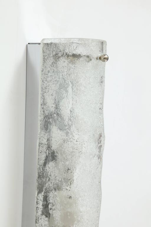 Scandinavian Modern Kaiser Ice Glass Sconces For Sale