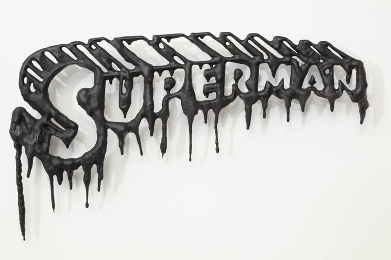 "Peter Buchman ""Superman"" Enamel and Resin on Wood, 2016 2"