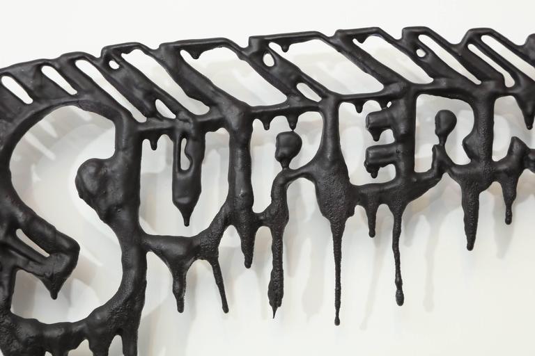 "Peter Buchman ""Superman"" Enamel and Resin on Wood, 2016 3"