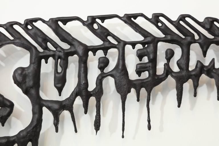 "Peter Buchman ""Superman"" Enamel and Resin on Wood, 2016 5"