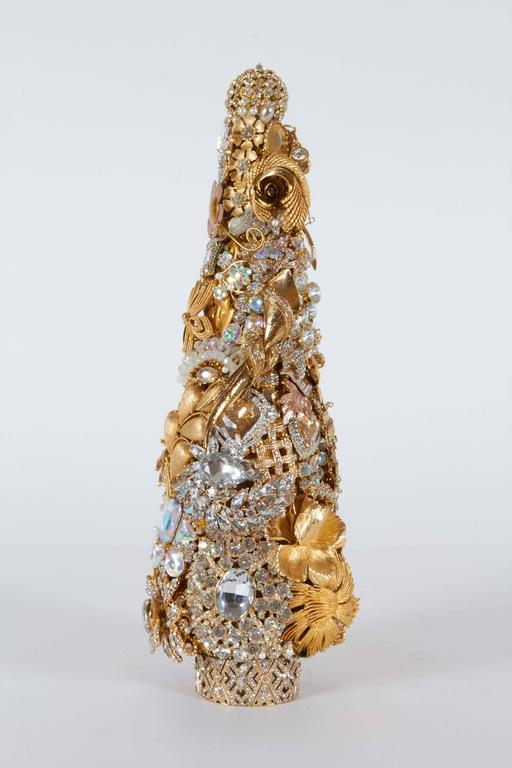 Modern Gold Christmas Tree Of Gold And Rhinestone Contemporary Christmas Tree Made Of