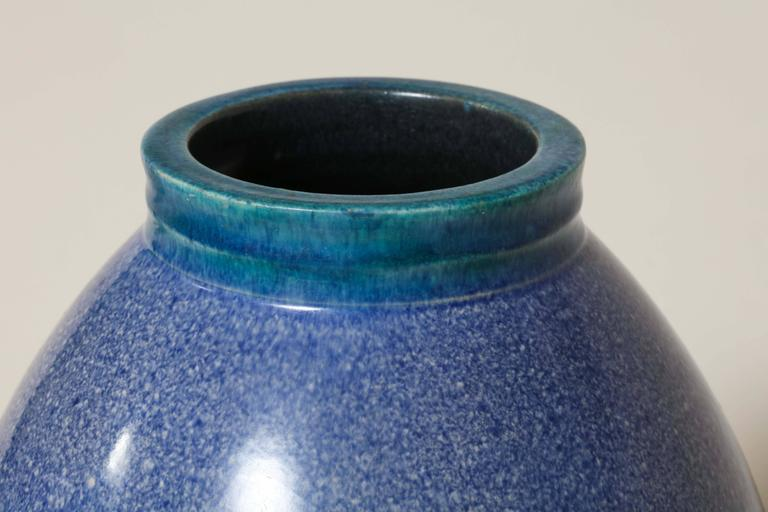 20th Century French Art Deco Stoneware Vase by Willy Wuilleumier Executed by Marcel Guillard For Sale