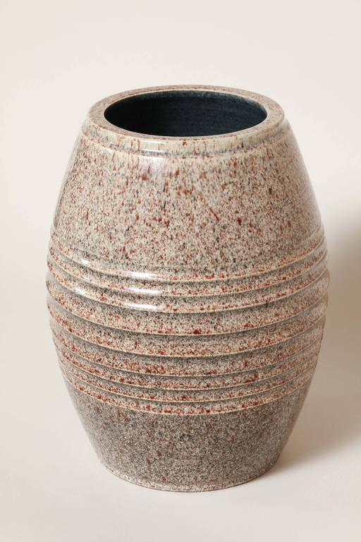 French Art Deco Stoneware Vase by Willy Wuilleumier Executed by Marcel Guillard In Excellent Condition For Sale In New York, NY