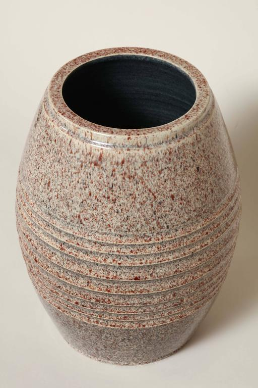 French Art Deco Stoneware Vase by Willy Wuilleumier Executed by Marcel Guillard For Sale 3