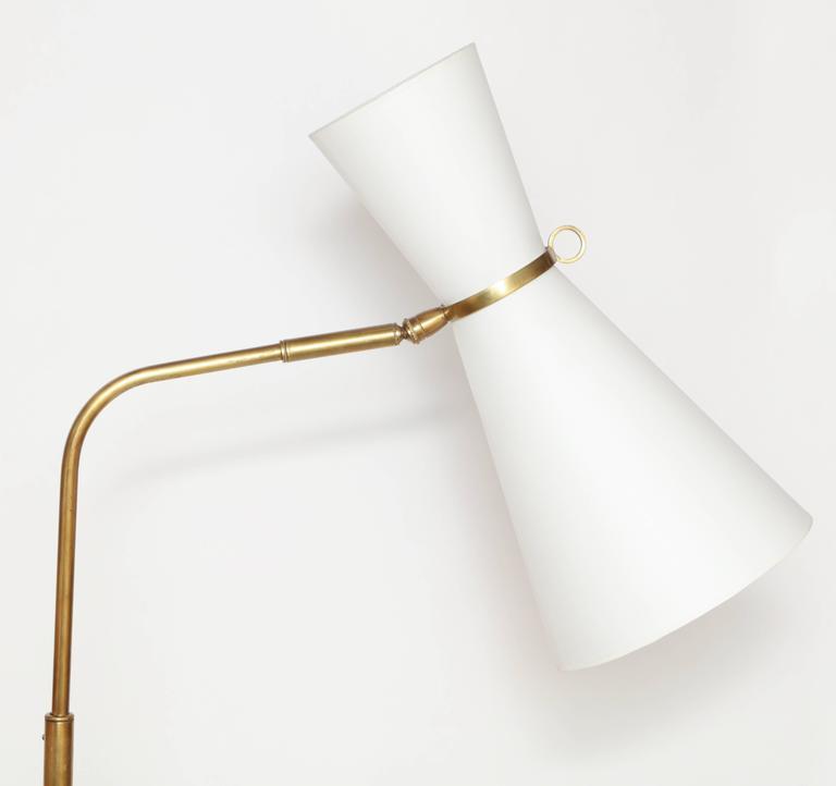 Robert Mathieu articulated floor lamp, 1950s, France.