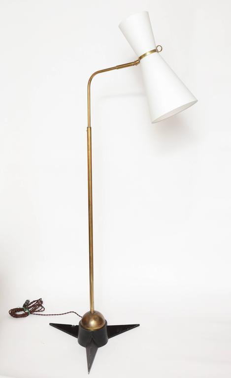 French Robert Mathieu Articulated Floor Lamp, 1950s, France For Sale