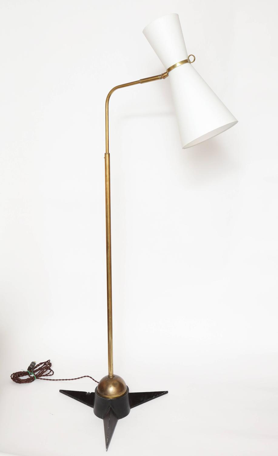 Robert Mathieu Articulated Floor Lamp 1950s France For
