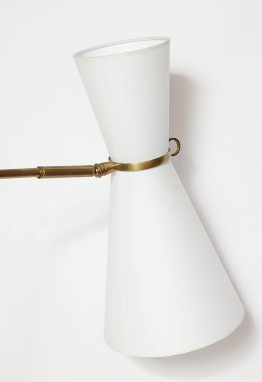 Robert Mathieu Articulated Floor Lamp, 1950s, France In Good Condition For Sale In New York, NY