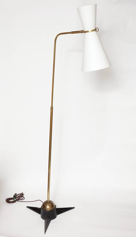 Mid-20th Century Robert Mathieu Articulated Floor Lamp, 1950s, France For Sale