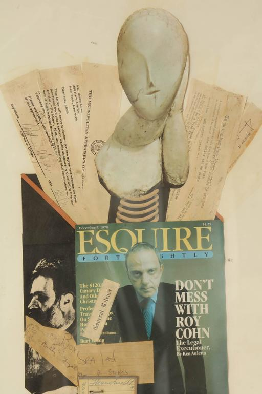 Other Collage Brancusi Lawsuit by Ellery Kurtz Presented to Roy Cohn by Andrew Crispo For Sale