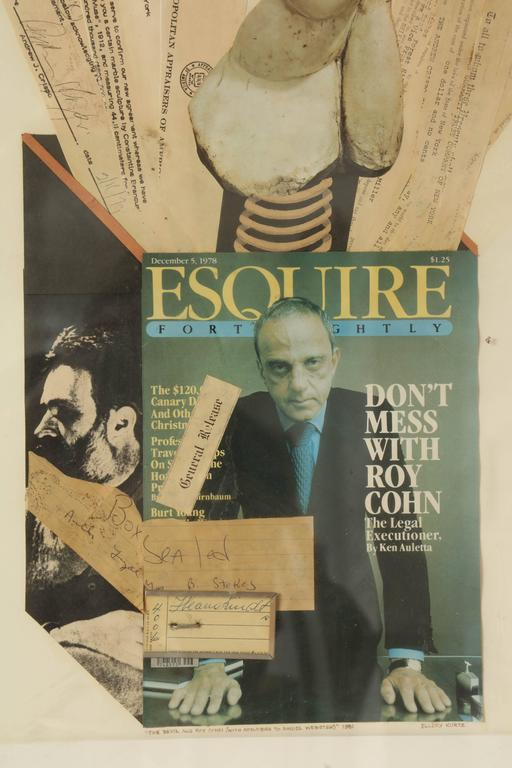 American Collage Brancusi Lawsuit by Ellery Kurtz Presented to Roy Cohn by Andrew Crispo For Sale