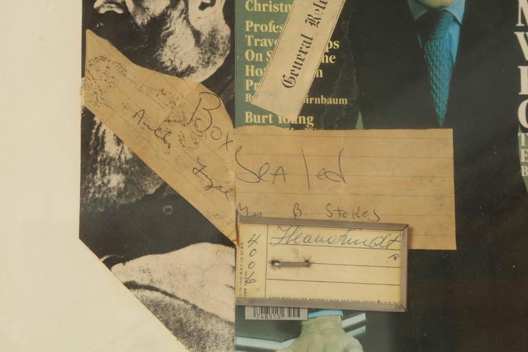 Découpage Collage Brancusi Lawsuit by Ellery Kurtz Presented to Roy Cohn by Andrew Crispo For Sale