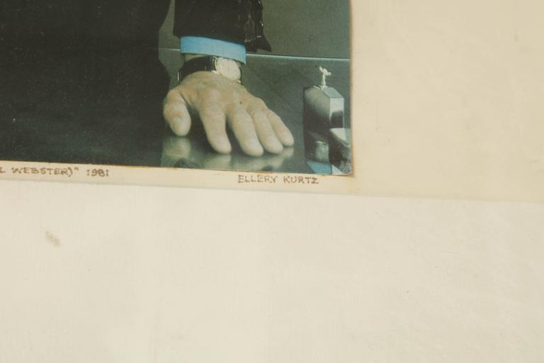 Late 20th Century Collage Brancusi Lawsuit by Ellery Kurtz Presented to Roy Cohn by Andrew Crispo For Sale