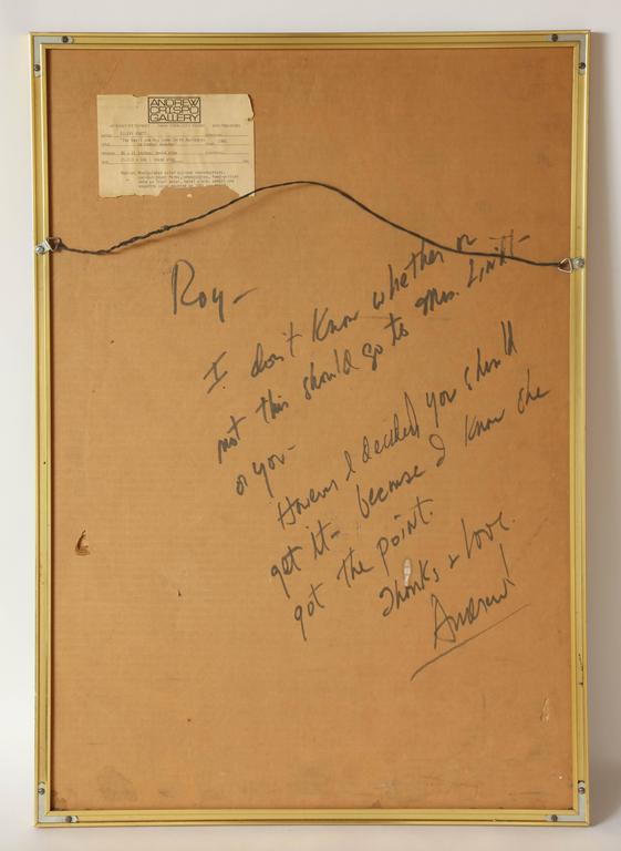 Collage Brancusi Lawsuit by Ellery Kurtz Presented to Roy Cohn by Andrew Crispo For Sale 2