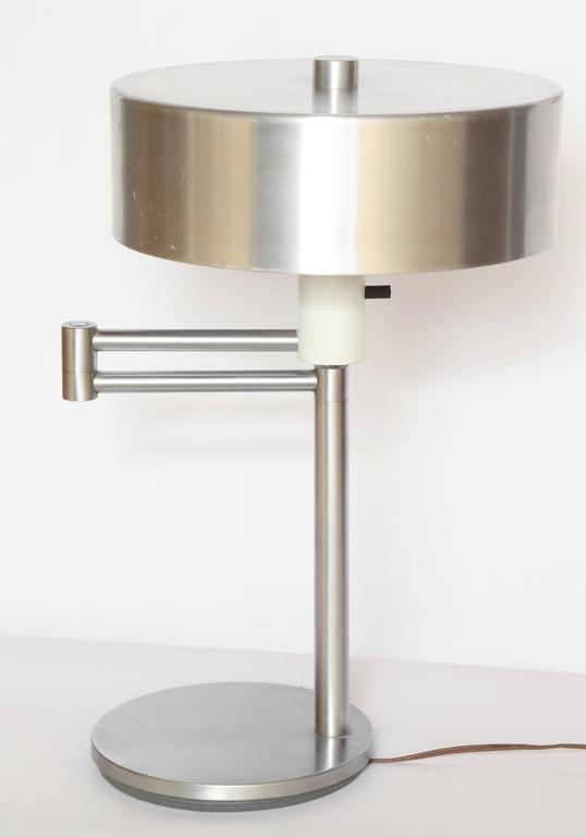 Walter VonNessen, 1930s, American modern articulated table lamp.