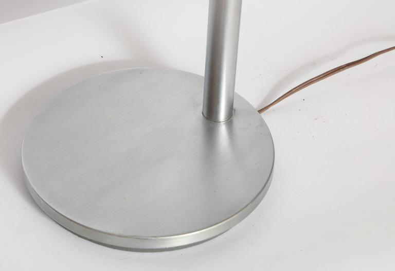 Brushed Walter Von Nessen 1930's, American Modern Articulated Table Lamp For Sale