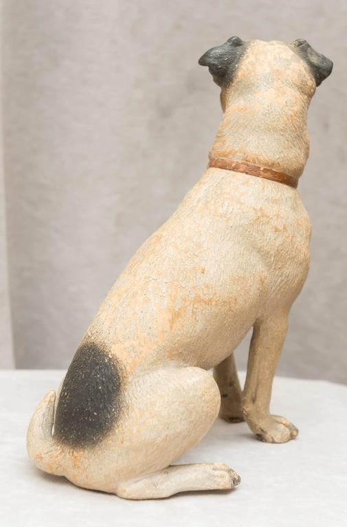 Hand-Crafted Austrian Terracotta Jack Russell Terrier For Sale