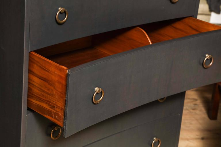 Concave Tall Chest At 1stdibs
