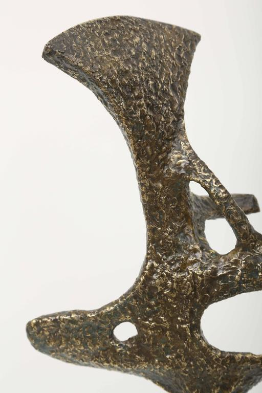 Abstract Midcentury Bronze Sculpture by Jacques Duval, Brasseur For Sale 1