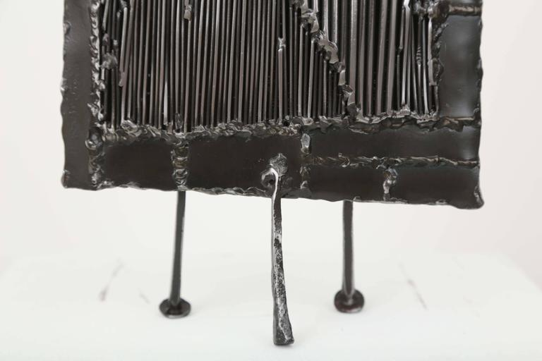 Mid-Century Iron Brutalist Sculpture by J. Duval Brasseur In Excellent Condition For Sale In Miami, FL