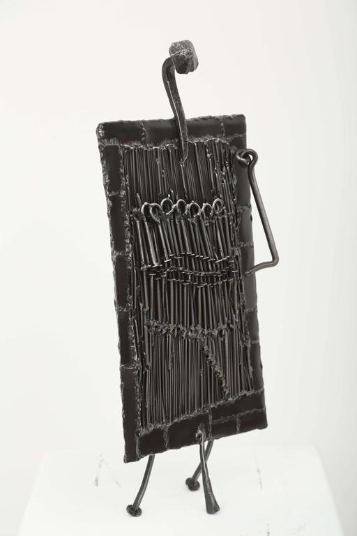 Mid Century Iron Patio Chairs: Mid-Century Iron Brutalist Sculpture By J. Duval Brasseur