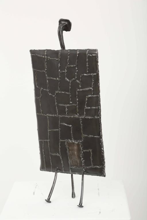 Mid-Century Iron Brutalist Sculpture by J. Duval Brasseur For Sale 1