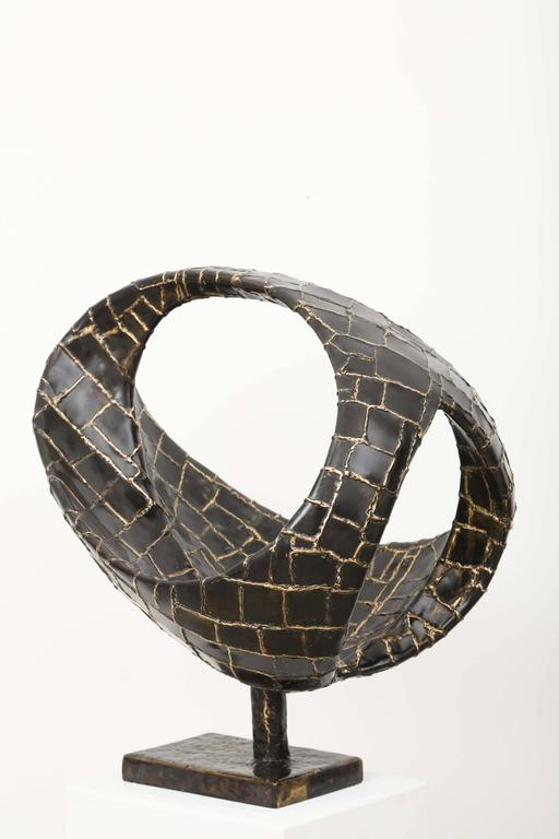 Abstract Ovoïde Bronze Sculpture by Jacques Duval-Brasseur 5